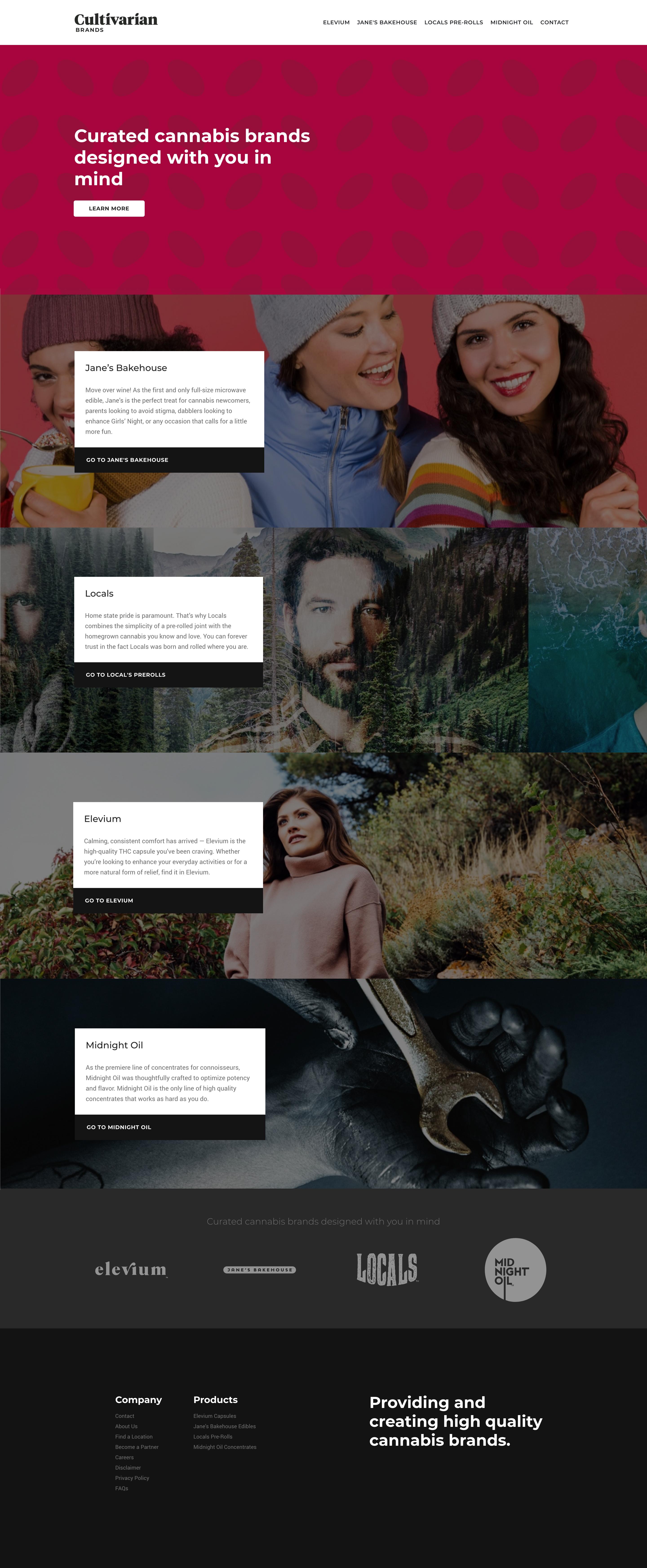Cultivarian Brands Homepage